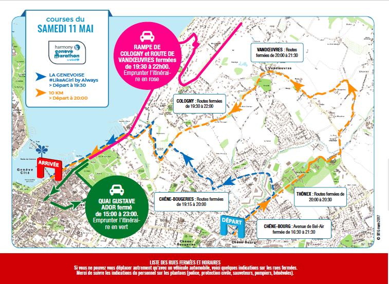 Fermeture des routes et accès les 11 et 12 Mai 2019